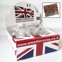 AFD Badges - Display Box 500 Charity Resale
