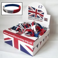 AFD Wristbands - Display Box 500 Charity Resale