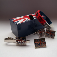 AFD Cufflinks, Tie Clip, Lapel Badge and Wristband Set